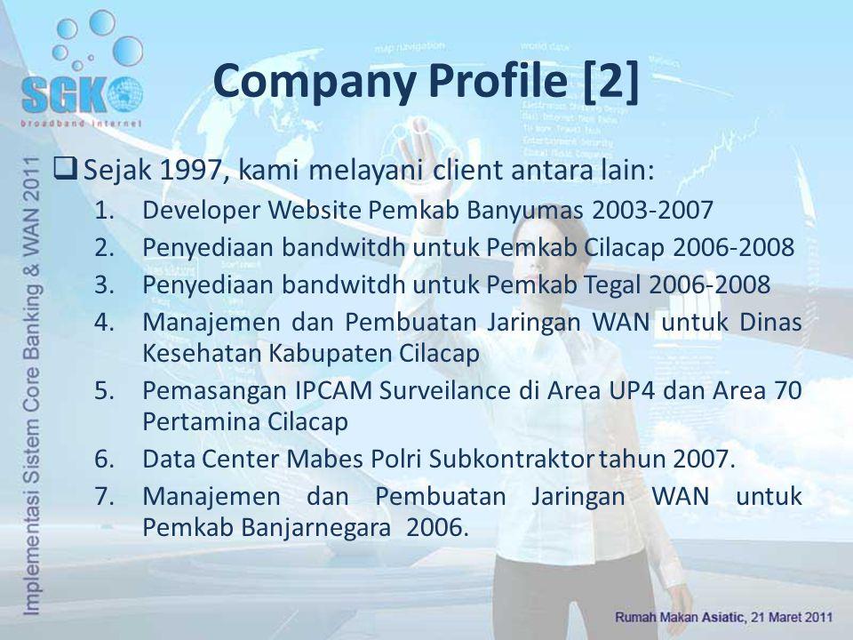 Company Profile [2] Sejak 1997, kami melayani client antara lain: